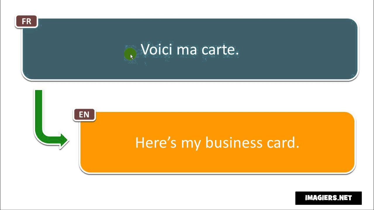 Say it in French = Here\'s my business card - YouTube