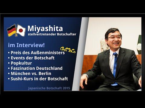 stellv. Botschafter Miyashita - Interview | Japanische Botschaft 2015