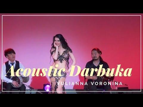 Belly Dance Video HD. Acoustic Darbuka. (Yulianna Voronina) Bellydancer. bellydance percussion