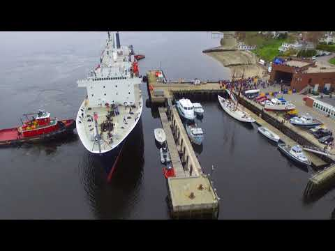 Maine Maritime Academy - Training Ship State of Maine 2018 Drone