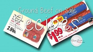 What's On Sale? Ground Beef Recipes