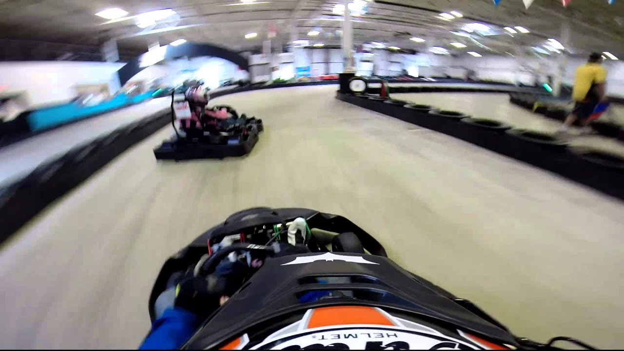 No bumping in go karts - YouTube