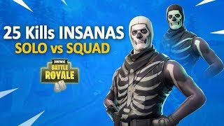 25 Kills Solo vs Squad c/ Caveirão - Skull Trooper (Fortnite Batlle Royale PS4 PRO)