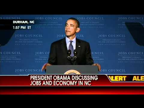 Video: President Obama Discusses Jobs and the Economy in NC