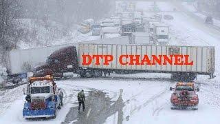 ДТП и аварии с грузовиками зимой часть 1