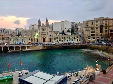 St. Julian's | Malta. (Ianuarie 2016. HD)