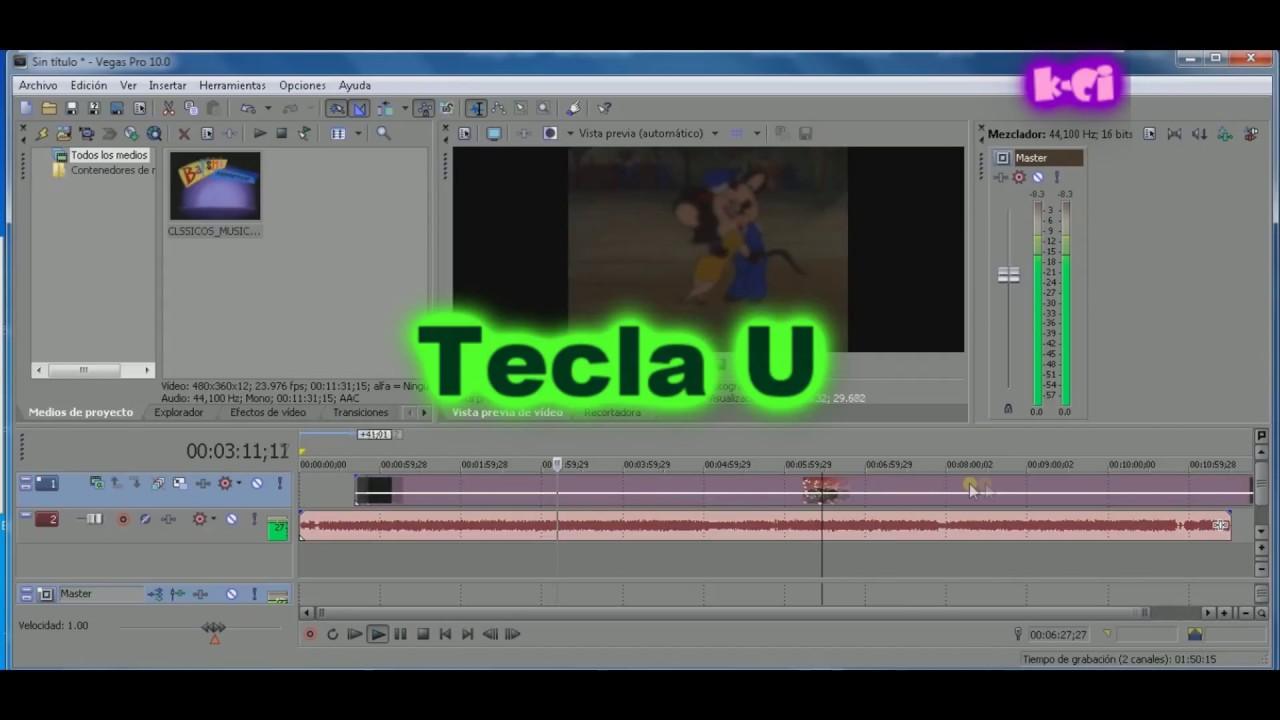 Hacer Transparente Un Vídeo Y Separar Audio De Video En Sony Vegas Youtube
