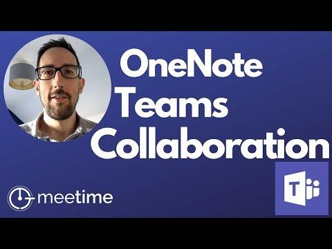 OneNote Team Collaboration - Microsoft Teams Tutorial 2019