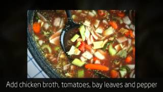 A Hearty Chicken Vegetable Soup