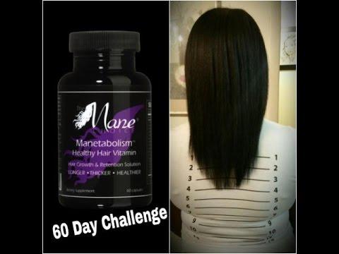 60 Day Hair Growth Challenge Using Manetabolism Hair