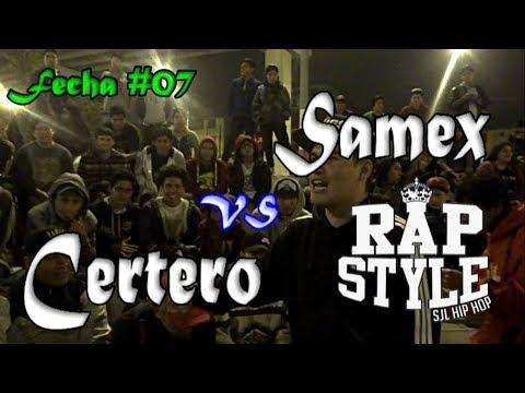 SAMEX vs CERTERO -4tos- 1ra Liga Rapstyle (Fecha 07) 2017