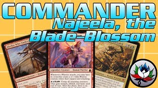 mtg – najeela the blade blossom legendary warrior tribal edhcommander deck tech