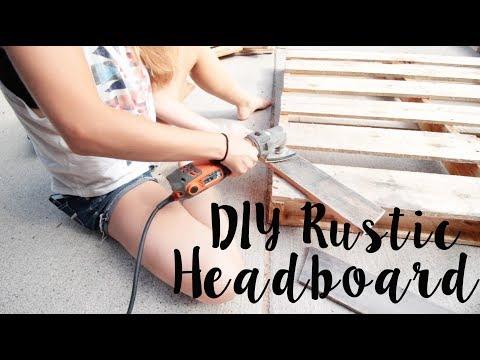 DIY Rustic Headboard / Pallet Wood Headboard - FriDIY