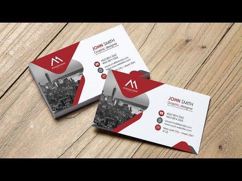Clean Elegant Business Card (Red & White) | Photoshop Tutorials thumbnail