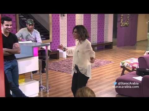 جنون ليا خلال زيارة كلوديا مرشيليان الى الاكاديمية - Lea During Claudia Marchalian Visit