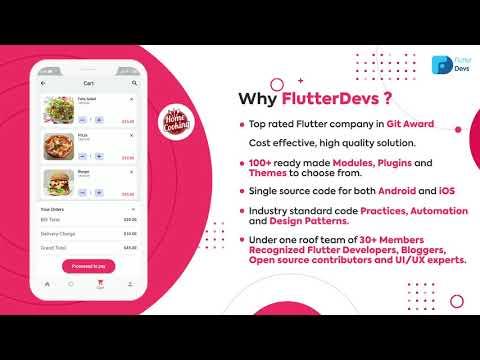 Flutter Food Delivery App