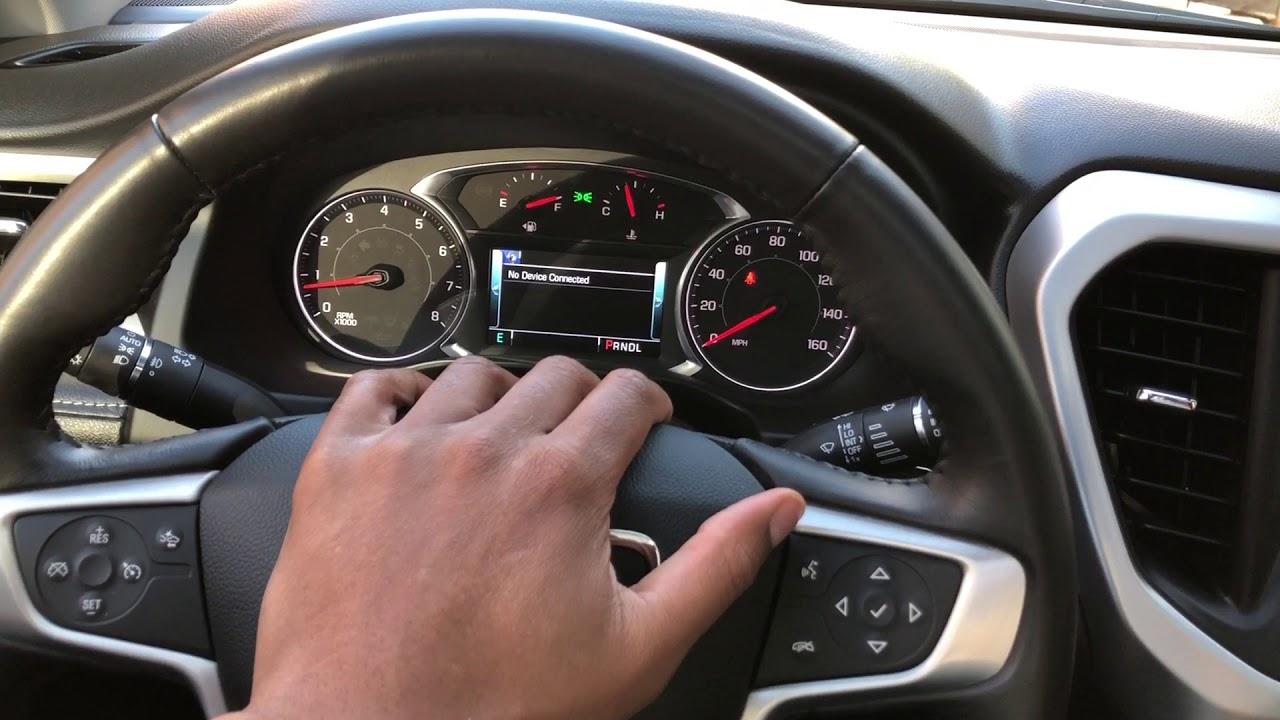 GMC Acadia - Traction control button