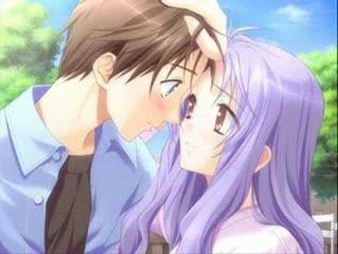 amor, besos y abrazos de anime