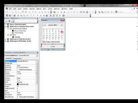 Excel 2013 Video 10 Insert a Calendar Datepicker in a Floating VBA Userform