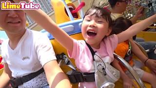 [도전]라임의 신나는 라바파크 놀이기구 미끄럼틀 체험 놀이공원 관람차 칼라 장난감 놀이 Indoor Playground Family Fun for Kids & Toy 라임튜브