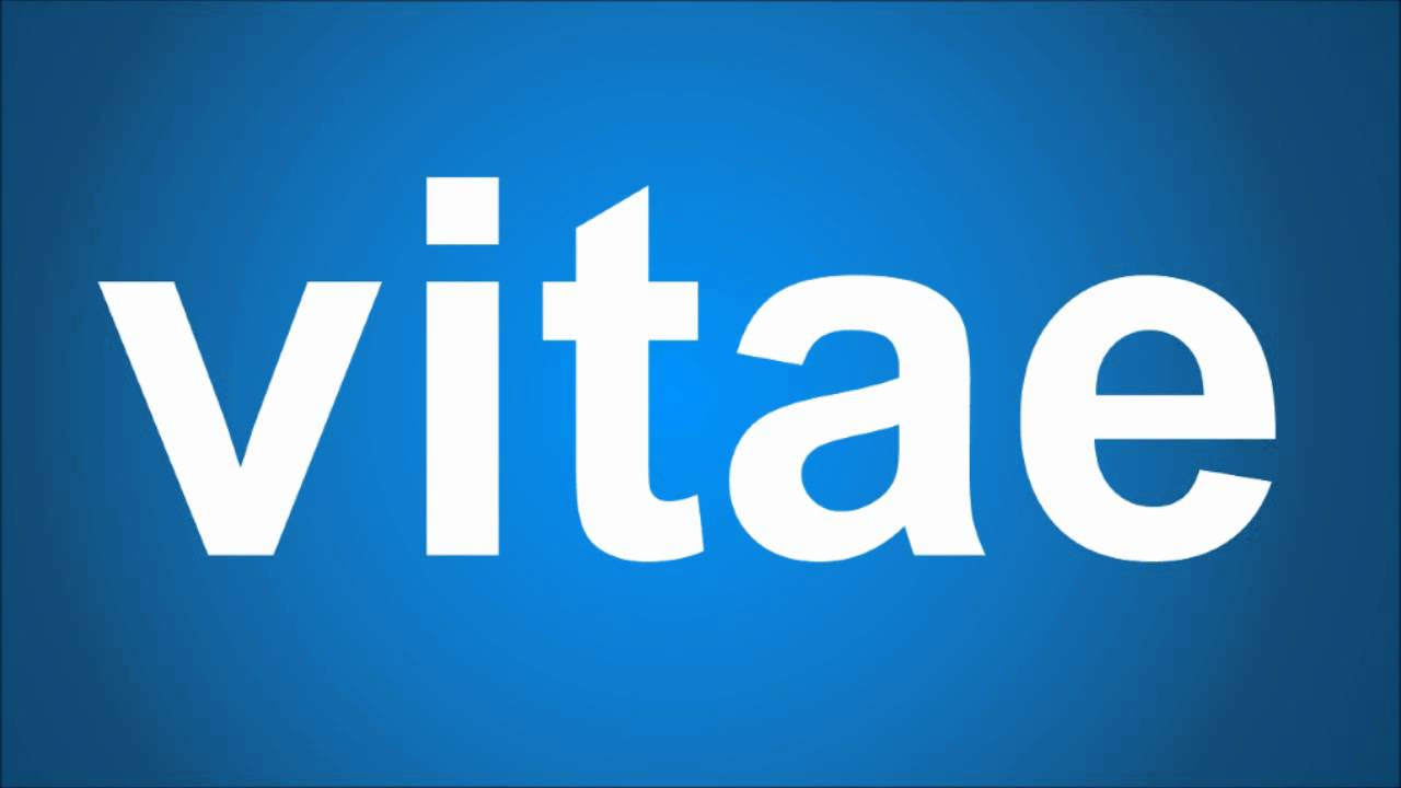 How Do You Pronounce Vitae Youtube