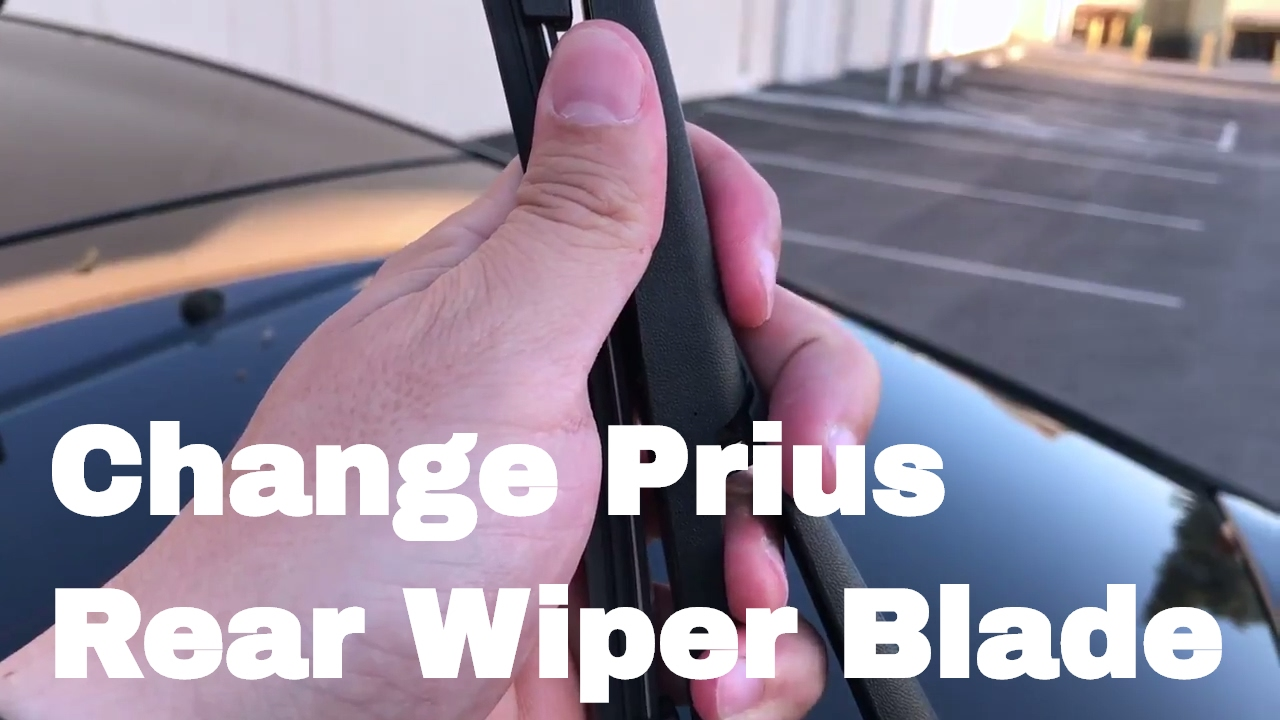 How To Change Or Replace 2010 Prius Rear Wiper Blade 2010