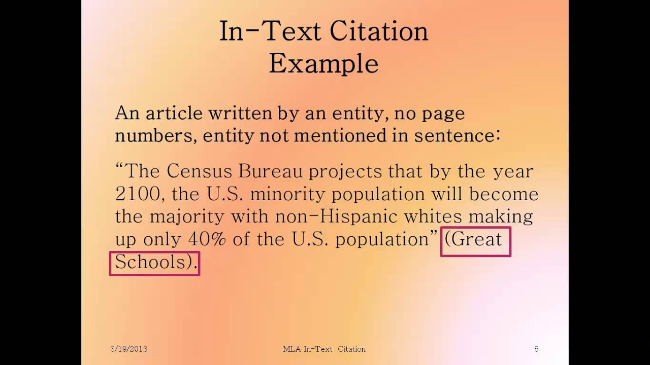 MLA In-Text Citation Introduction and Articles by Entities - YouTube