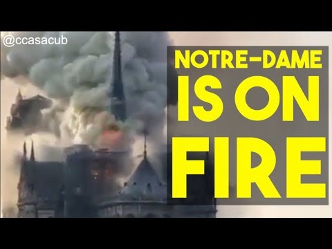 The Notre-Dame Cathedral In Paris Is On Fire