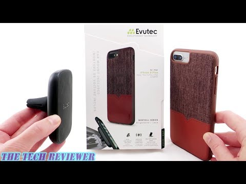 Evutec Northill for iPhone 8+: Mil-Spec Protection & Wireless Charging Compatible Magnetic Mounting!
