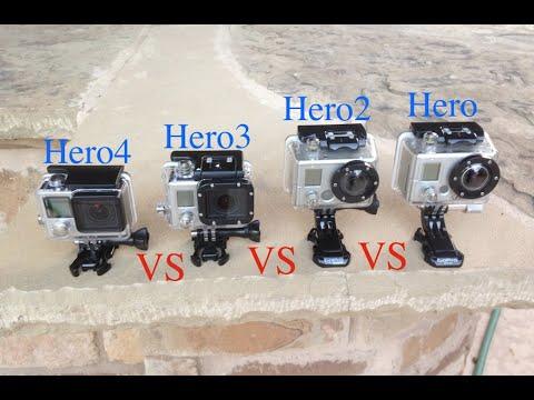 GoPro Hero4 vs Hero3 vs Hero2 vs Hero Slow Motion Testing