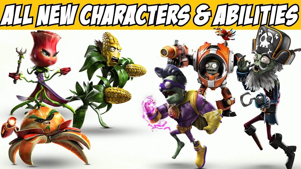 Plants Vs Zombies Garden Warfare 2 All New Characters Abilities Youtube