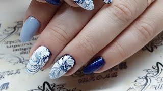 Eng CC потрясающий простой зимний дизайн ногтей  Идеи для новогодних дизайнов  Вензеля на ногтях