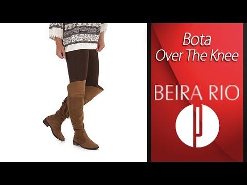 af2d647a1b Bota Over The Knee Feminina Beira Rio - 6010422383 - YouTube