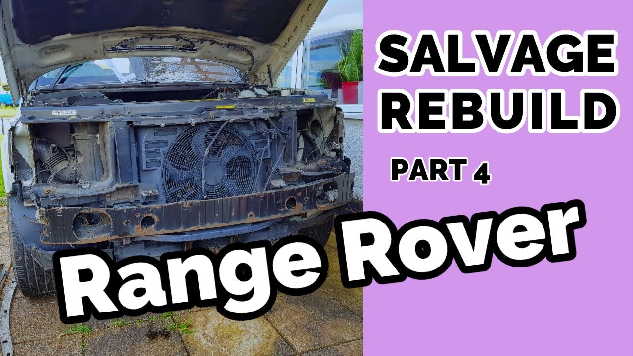 Salvage Range Rover Removing Front Bumper Headlamps and Direction Indicators