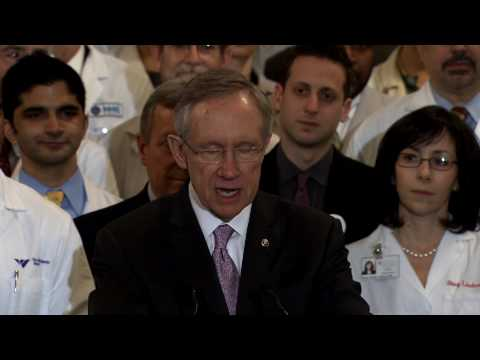 Reid Discusses Support by Doctors for Health Reform Bill