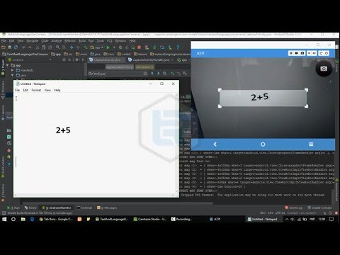Android Studio - How to make Camera To Text use OCR Exmaple on