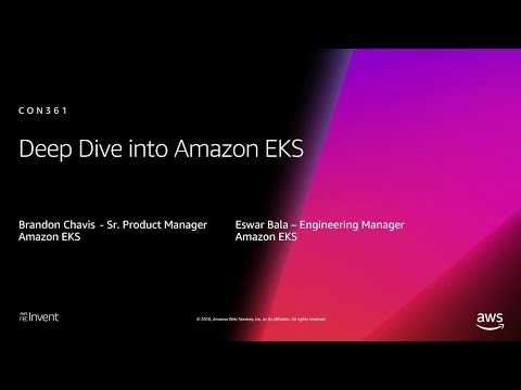 AWS re:Invent 2018: [REPEAT 1] Deep Dive on Amazon EKS (CON361-R1)