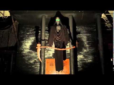animatronic grim reaper halloween haunted house prop