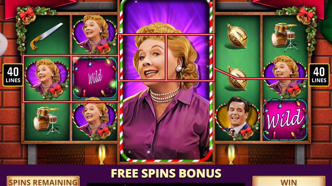 I LOVE LUCY CHRISTMAS SPECIAL Video Slot Game with a YULETIDE FREE ...