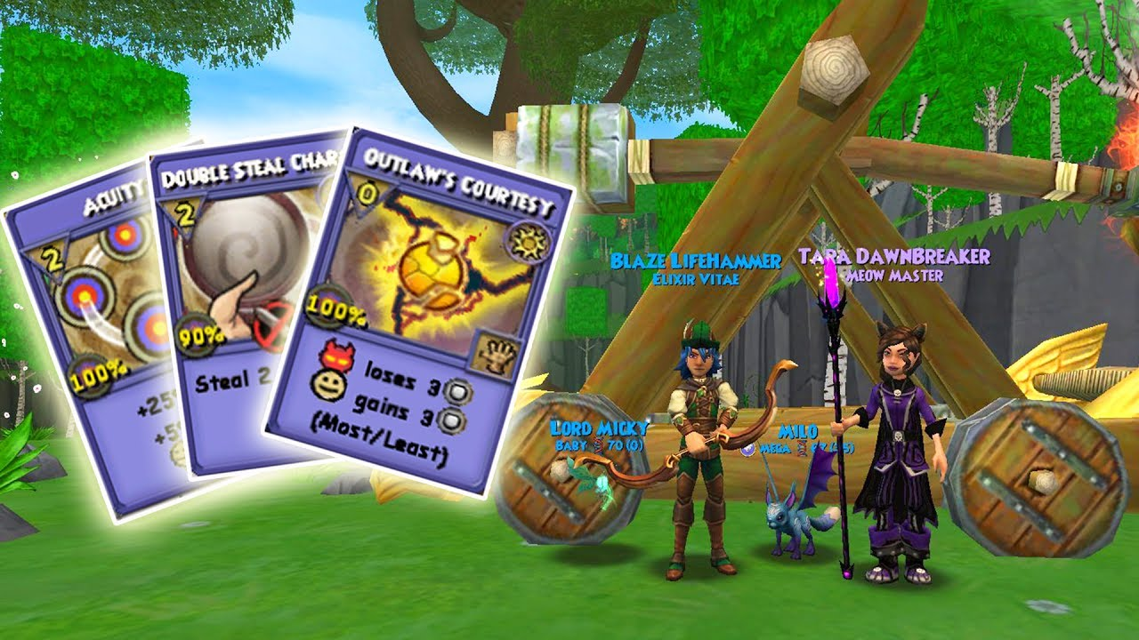 Wizard101: NEW Spells from the Avalon Outlaw's Bundle!