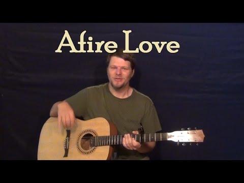 Afire Love (Ed Sheeran) Easy Guitar Lesson How to Play Tutorial Capo 5th