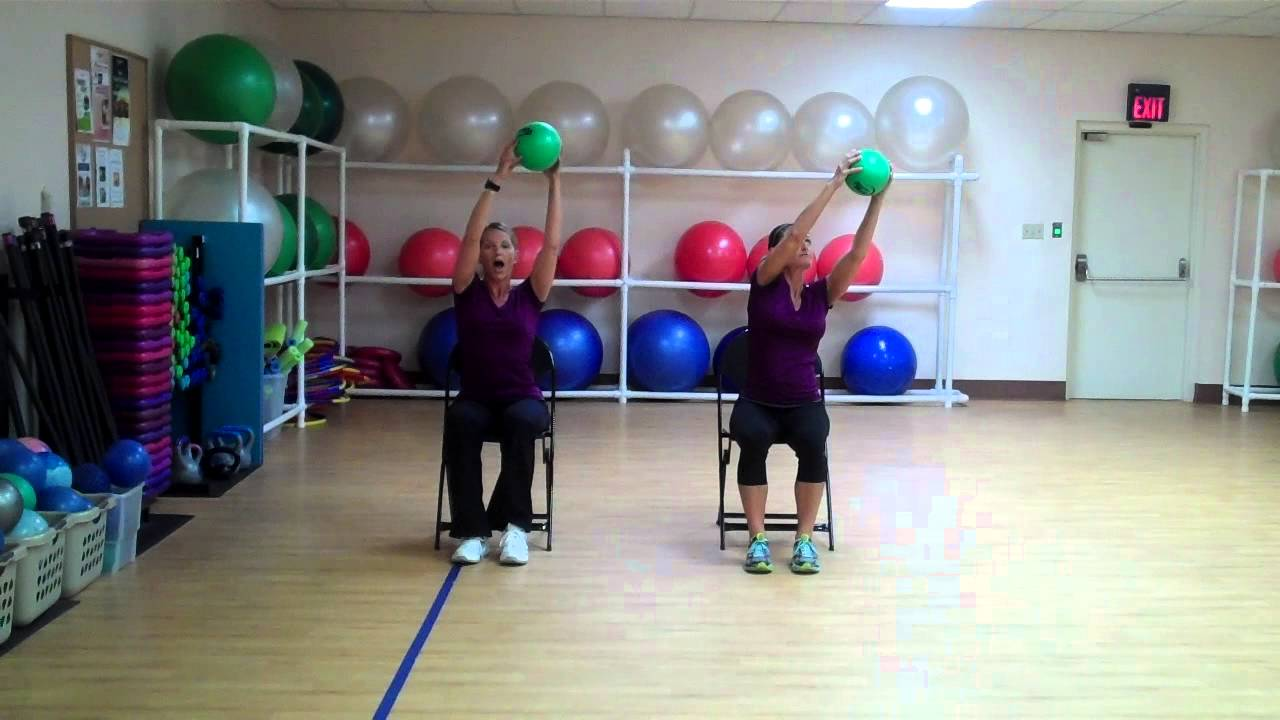 Older Adult Seated Ball - Youtube-4685