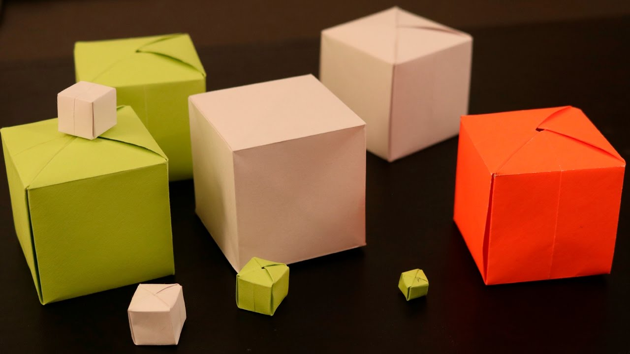 How To Make A Paper Cube Youtube