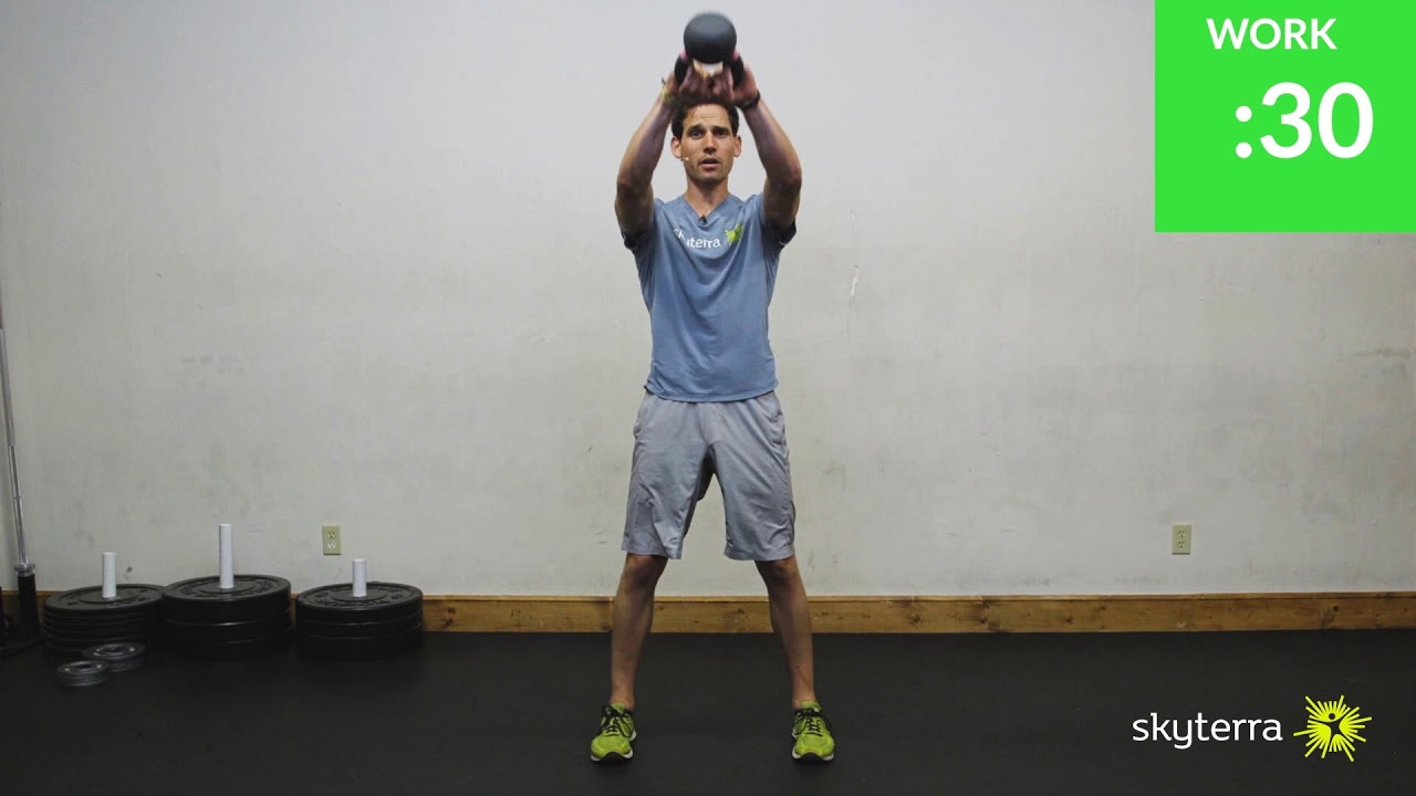 EMOM: Kettlebell Swings & Goblet Lunges