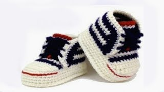 Repeat youtube video DIY crochet sneakers tutorial //Vasilisa