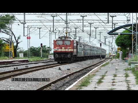 RPM WAP4 with DR - MS SF at Speed : Indian Railways