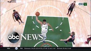 NBA superstar makes history with Milwaukee Bucks l ABC News