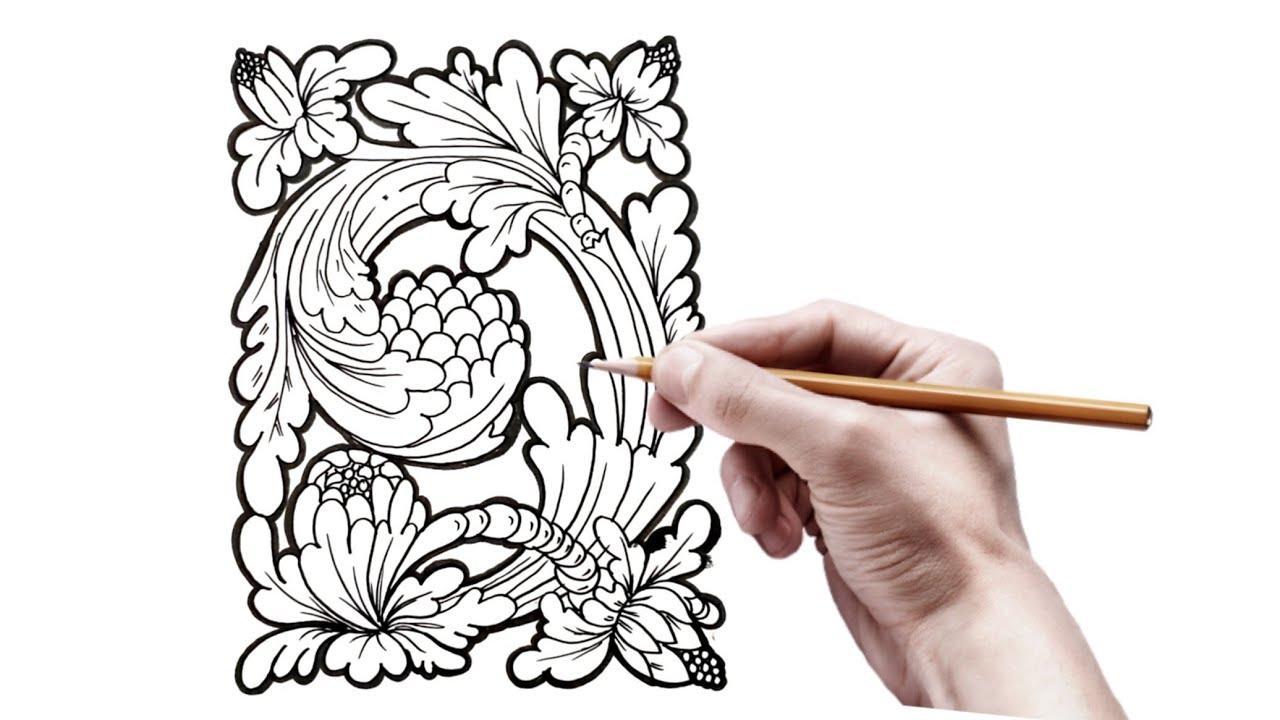 Ragam Hias Flora Ragam Hias Bali Indonesia Youtube
