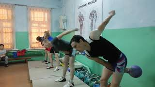 Гиревой спорт. Тренировка в разгаре. Рывок 20кг, 12кг,8кг после кросса.