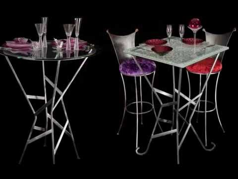 table haute en verre design youtube. Black Bedroom Furniture Sets. Home Design Ideas